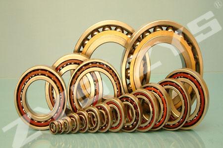 High precision angular contact ball bearings