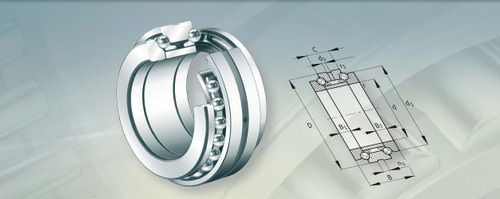 Axial ball bearings with slippery touch