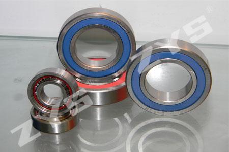 High-speed sealed angular contact ball bearings